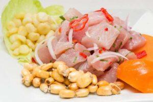 imagen plato de ceviche de pescado