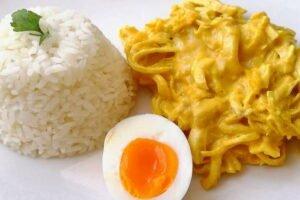imagen plato con aji de gallina peruano