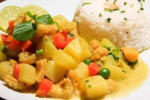 imagen plato de cau cau de mondongo peruano