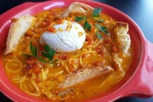 imagen plato con sopa a la minuta peruana