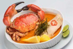 imagen fuente de parihuela de pescado y mariscos