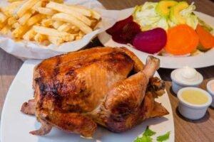 imagen plato de pollo a la brasa peruano
