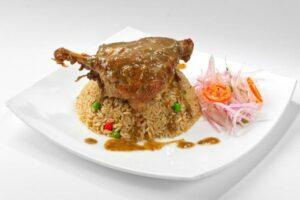 imagen plato de arroz con pato, como preparar arroz con pato