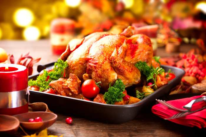 imagen plato de pavo al horno peruano navideño relleno