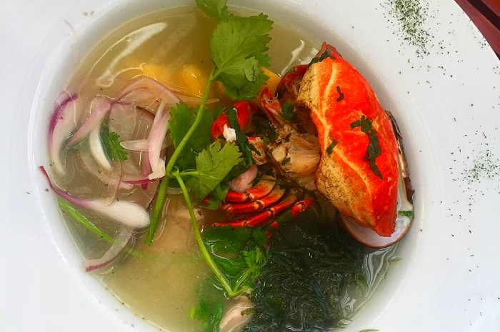 imagen plato de chilcano de pescado