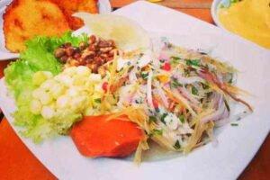 imagen plato de chinguirito peruano