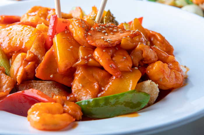 imagen plato con kam lu wantan