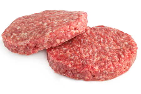 imagen hamburguesa casera sin cocer