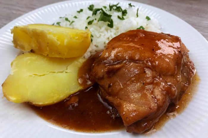 imagen plato con pollo a la coca cola