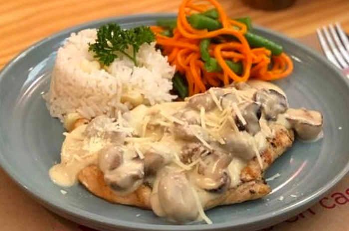 imagen plato de pollo con champiñones