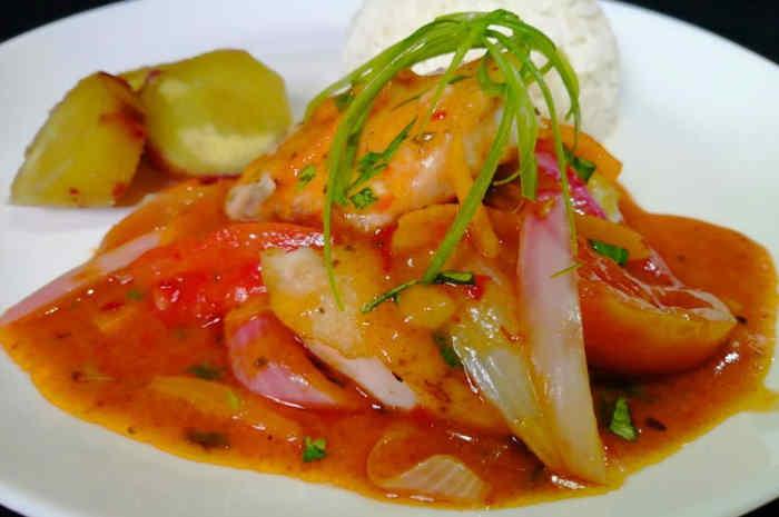 imagen plato de pescado a la chorrilllana