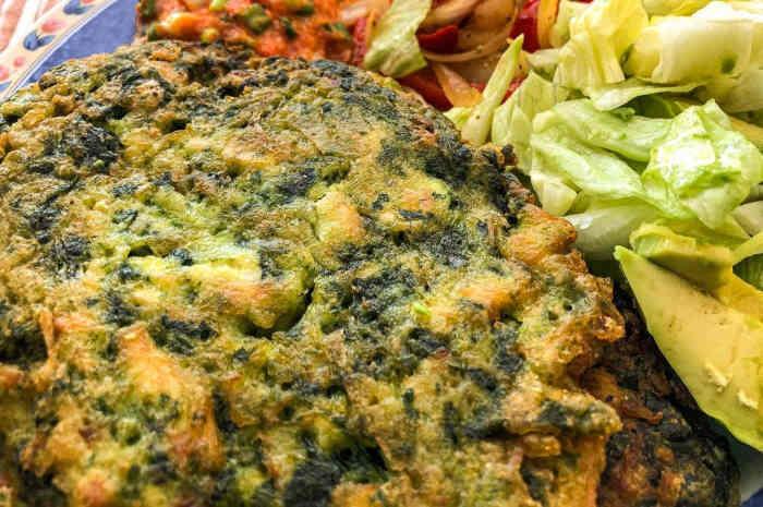 imagen plato con torreja de verduras
